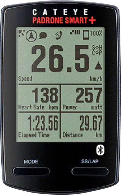 New CatEye Padrone Smart Plus Triple CC-SC100B Cycling Computer with Speed